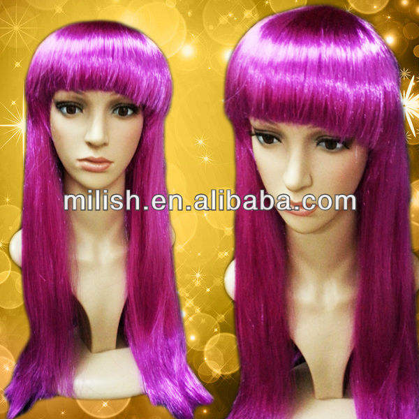 MPW-1050 Party Cheap Long Witch Purple Wigs for Halloween