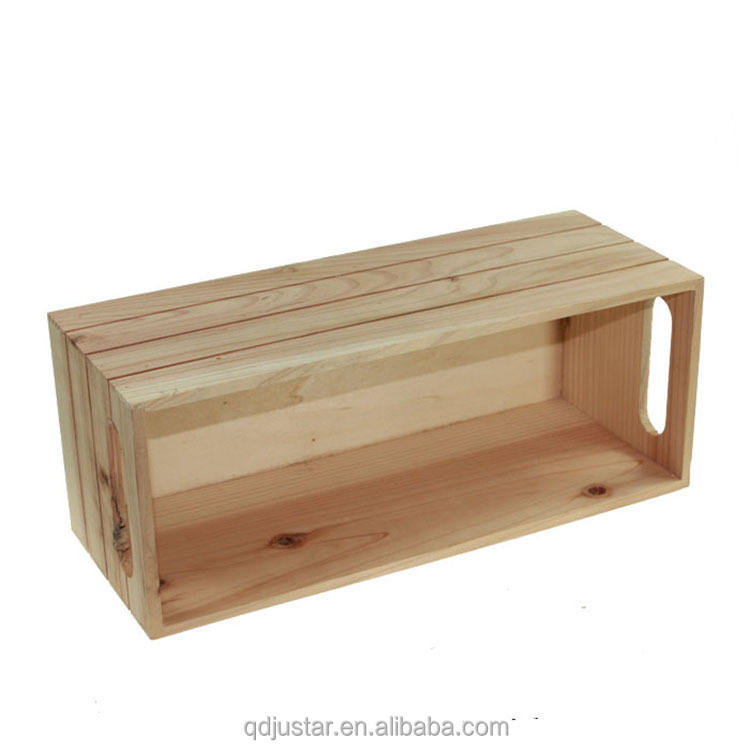 Square Shape Pine Wooden Box Eternal life flowers gift box for sale
