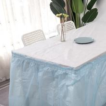 solid color  plastic PEVA Table skirt