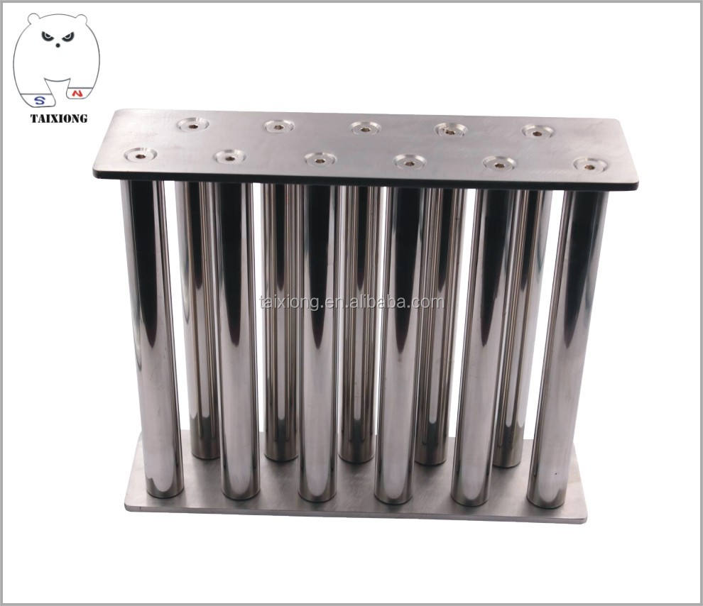 10 magnet bars neodymium magnetic filter/hopper magnet for separation