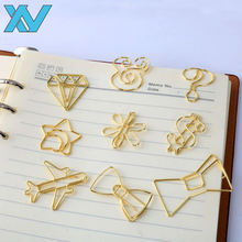 metal iron wire diamond bow airplane gold paperclips