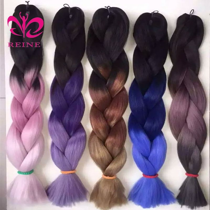 Wholesale hair extension high quality raw material ombre jumbo braid synthetic hair for braiding