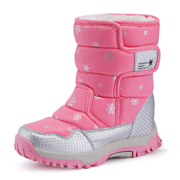 Anti-skid winter outdoor stock shoes children's girl snow boots for kids