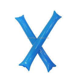 Blue color Inflatable Cheering Fans Hand Sticks air ballon