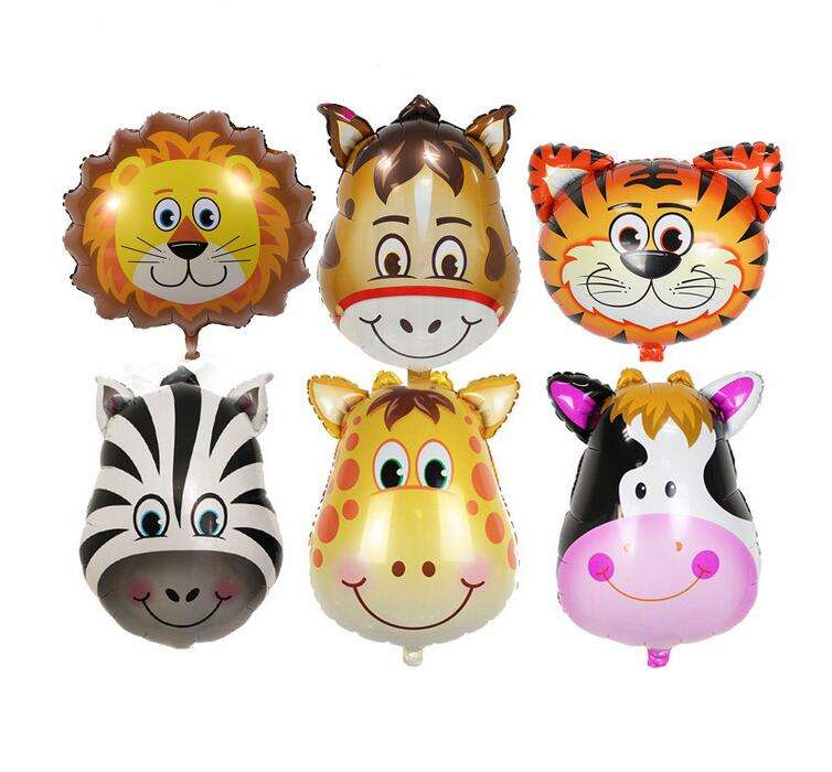 Aluminum Animals Cartoon Foil Balloon Inflatable Balloons Toy for Kids