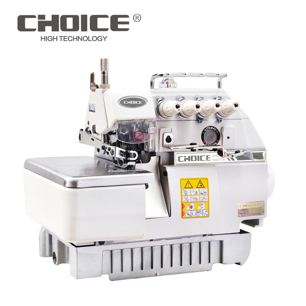 Golden Choice GC747 Kecepatan Tinggi Direct Drive Empat Thread Overlock Mesin Jahit Industri