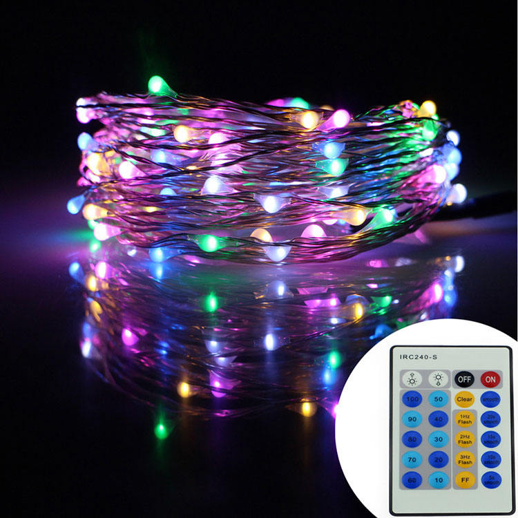 Wholesale remote control multi functions tiny twinkling led fairy string bright christmas lights