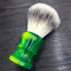 Knots Shaving Brush Knots Wholesale Soft Synthetic Hair Shaving Knots With Green Resin Handle Shaving Brush Private Label On Side Or Bottom For Men Shaver