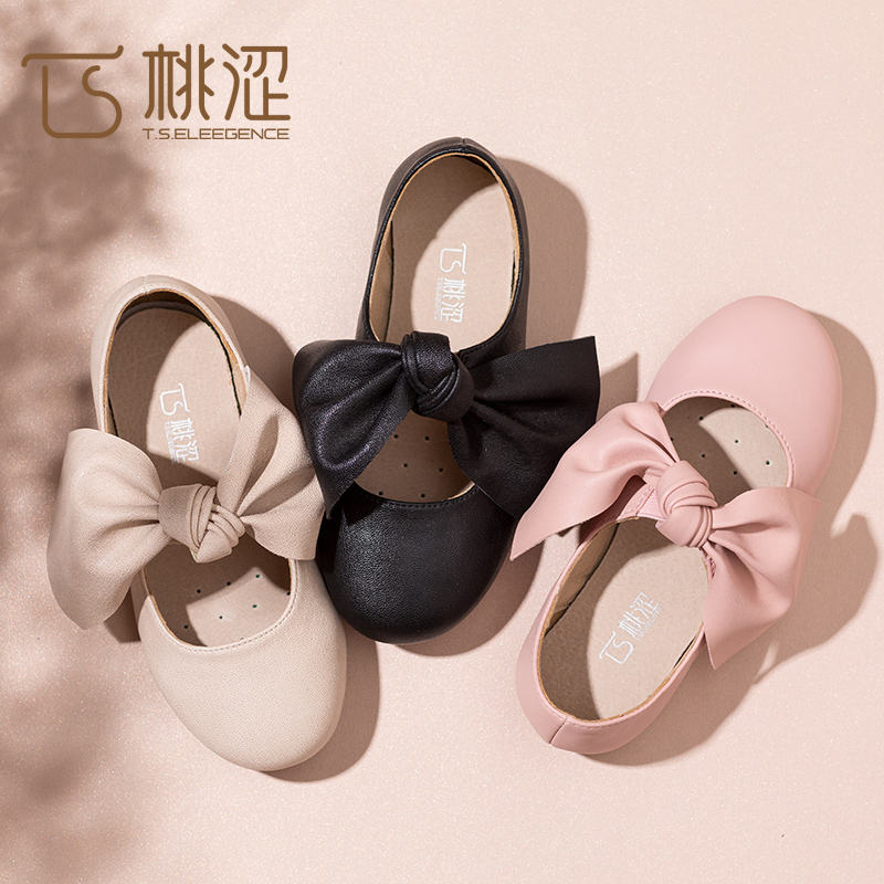 Wholesale Fashion Fit Kids Leather School Ballet Flats Girls Ballerina Shoes