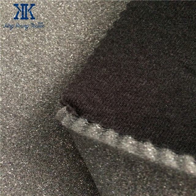 wholesale factory manufacturer brushed tricot laminated sponge foam fabric