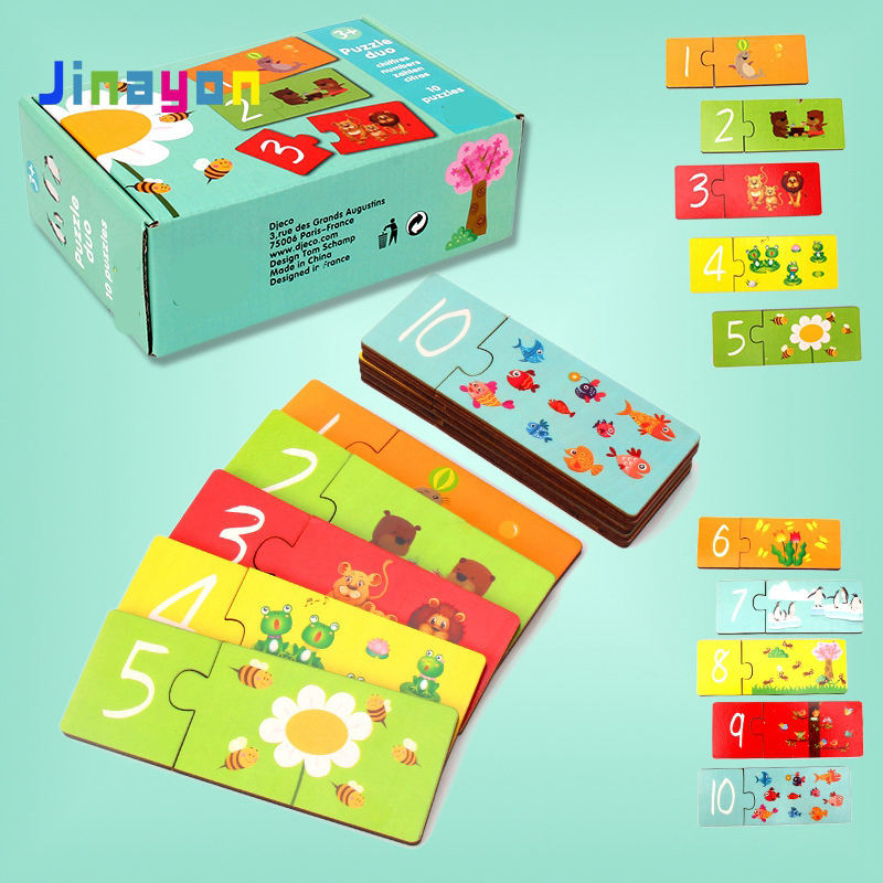 Jinayon Wholesale Custom Jigsaw Puzzle Education Wooden Puzzle Game for kids