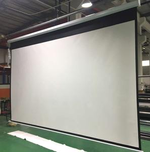 200 inch large motorized electric projection projector screen with remote control