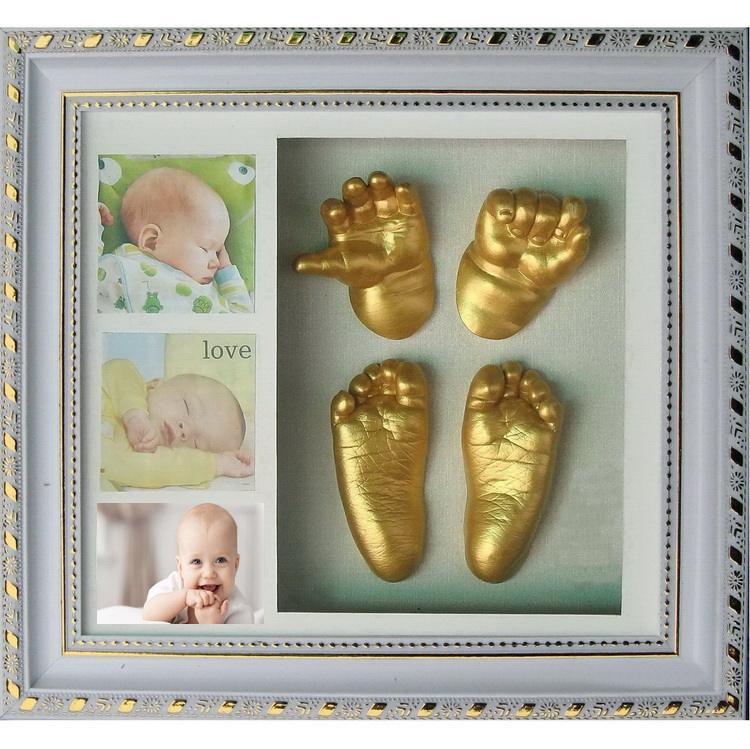 Deluxe 3D Baby Casting Kit Hand /& Foot Print Casts Sculpture Keep Sake Gift Set 1 bronze