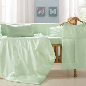 100% Organic Silk Baby Sheets for baby, Super Soft and Safe Baby Bedding Set