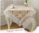 Lace stitching elegant flower embroidery tablecloths for rectangle round square table for dining coffee table,TV cabnit desk