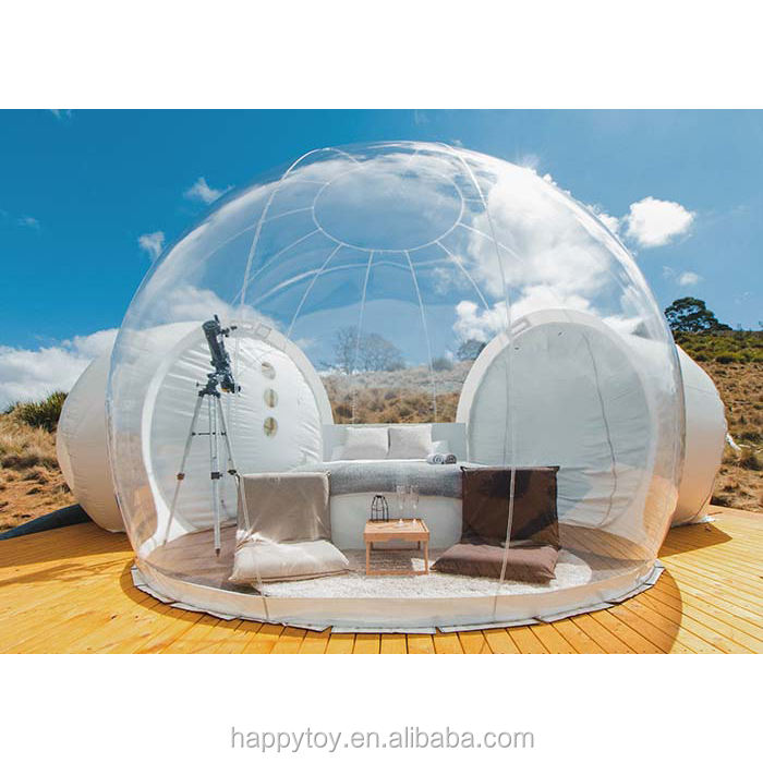 HI CE hot sale clear air dome camping tent,christmas outdoor lights inflatable tent bubble for camping or advertising