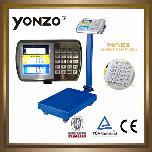 YZ-909 100kg to 500kg electronic digital platform weighing scale industrial ohaus scale