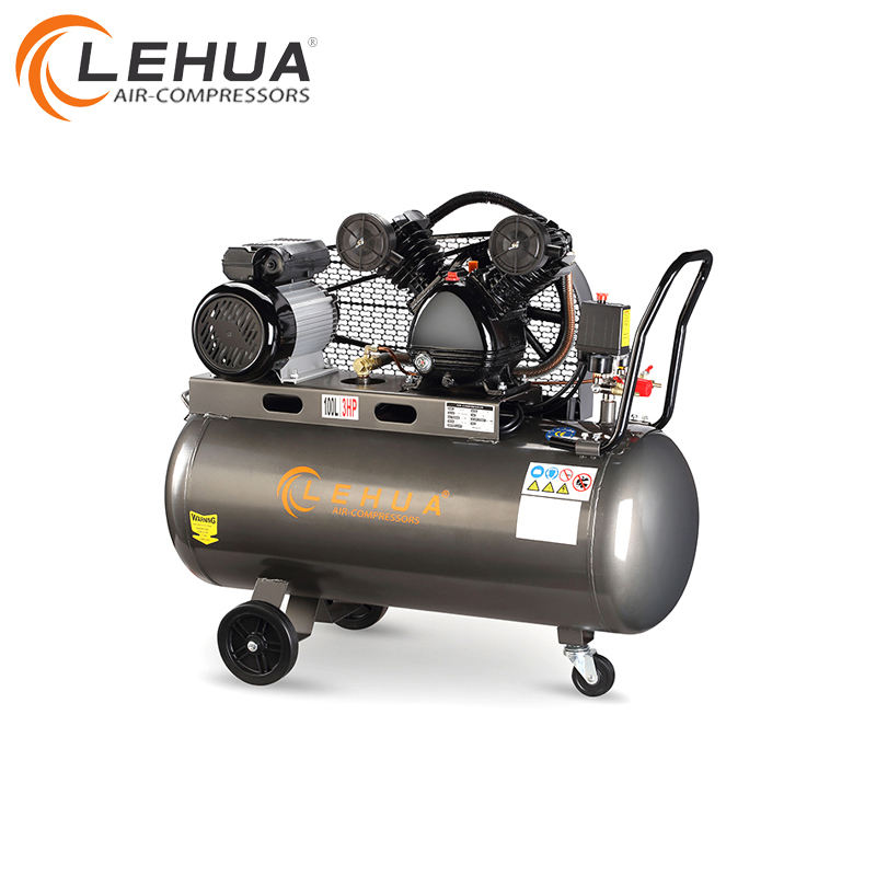 Professional factory 2.2kw 100 litre 3hp diesel piston air compressor