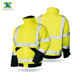 Safety Hi Vis Yellow 300D Oxford Waterproof Winter Construction Custom Reflective Safety Jackets