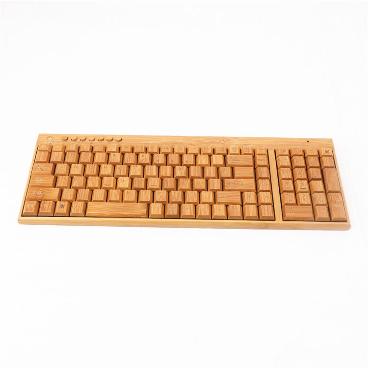 Superior quality office computer keyboard custom bamboo wireless usb keyboard