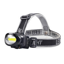 AAA Battery Powered  Hunting Light Headlamp Super Bright COB Headlamp Powerful  Headlight Flashlight