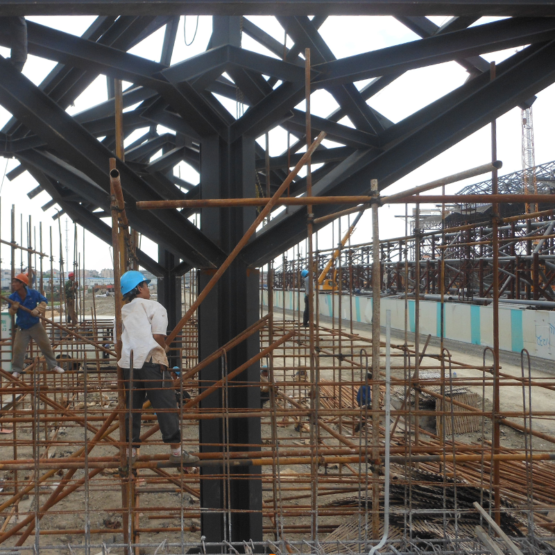 중국 공장 가격 d 디자인 강철 구조 캐노피