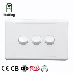 Six multi gang two way wall switch household electric switch