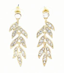 teardrop berlian imitasi berjajar anting anting chandelier anting anting stiker