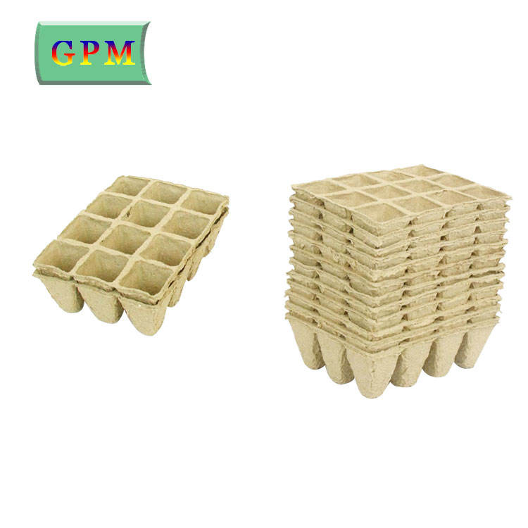 8 cells paper pulp molded biodegradable seed tray, supermarket paper tray for plant