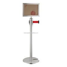 Retractable Airport Stanchion Queue Barrier Post