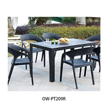 Popular Comfortable Rattan Plastic Outdoor Chair