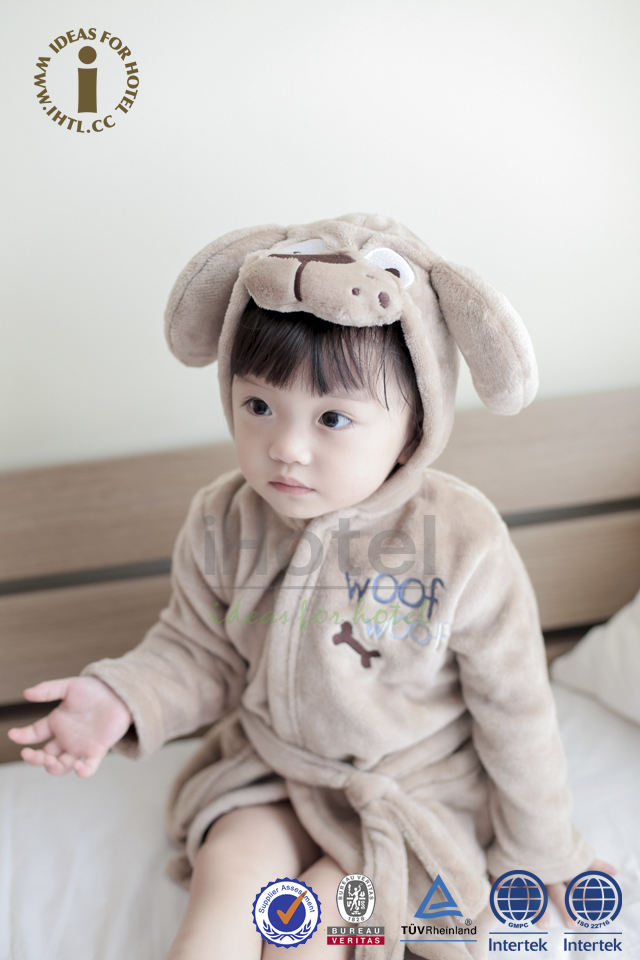 China Spa Grosir Cotton Printed Animal Bayi Mandi Jubah