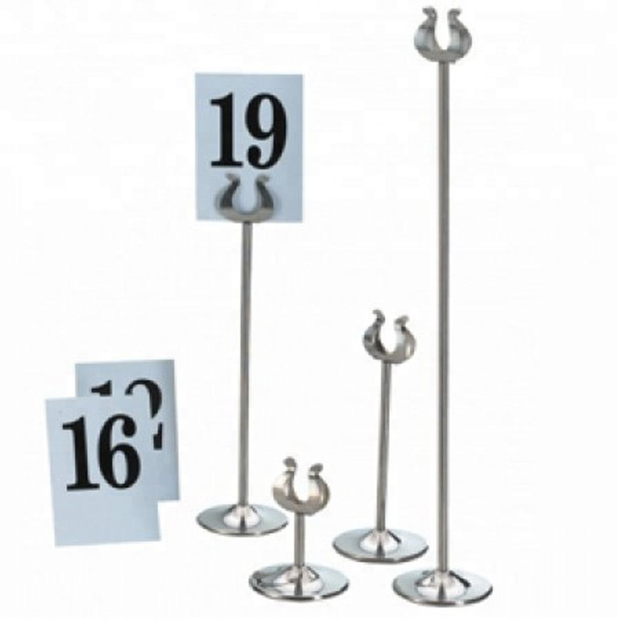 Custom stainless steel table menu holder card holder