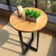 Foshan shunde customised high quality balcony solid wood tables for sale