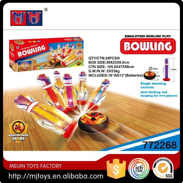 Simulation bowling play bowling ball with cool light & ice hockey ball sport toys
