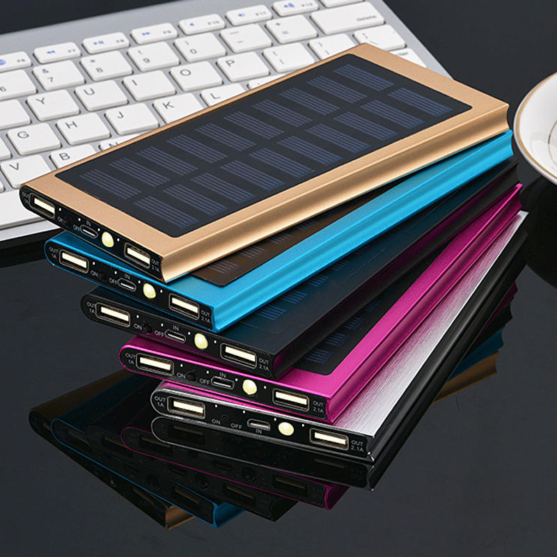 Ganda usb slim mini bank daya portabel 20000 mAh solar powered