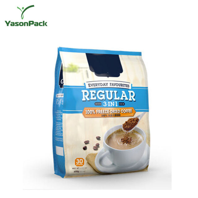 Yason raw coffee beans packaging bag coffee valve bag instant turkish coffee sachets
