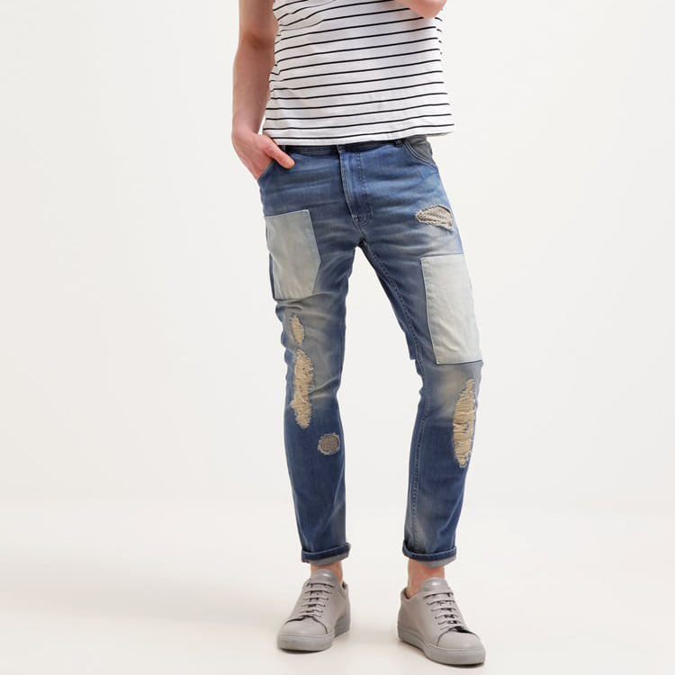 Factory Wholesale Price Skinny Ripped Jeans Men