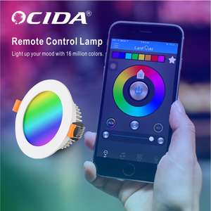 Nuevo diseño Smd 7W 9W 12W Led empotrado ronda Downlight Led Wifi controlado LED Downlight