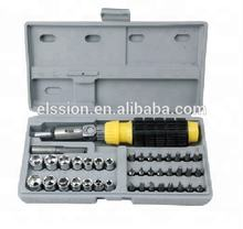 40pcs Ratchet Socket & Screwdriver tools kit
