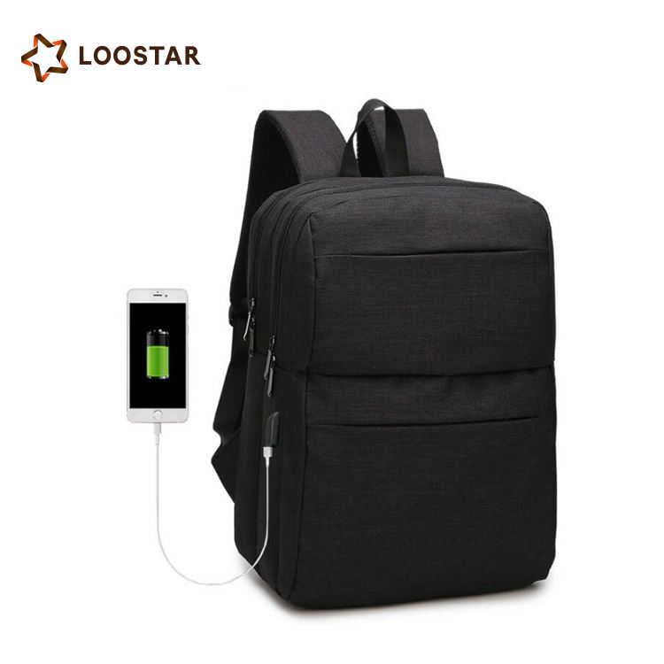 Best Selling Mens School Backpack Laptop Backpack with USB Charging Port