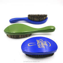 Amazon Hot Selling Factory Price100% Boar Bristle Beard Brush And Wave Brush Boar Bristle 360 Curve Wave Brush Wholesale