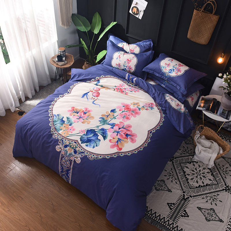 Hot-selling new design Chinese style big edition bedding set of four