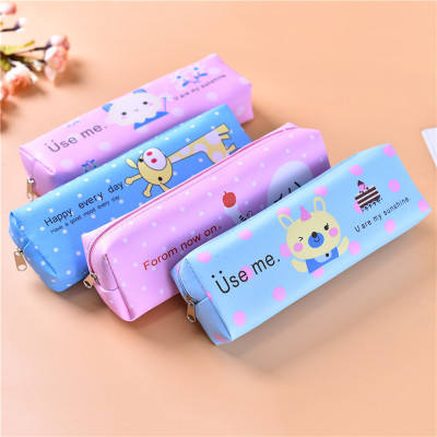 2019 new cartoon cute animal print boys and girls school pencil pouches