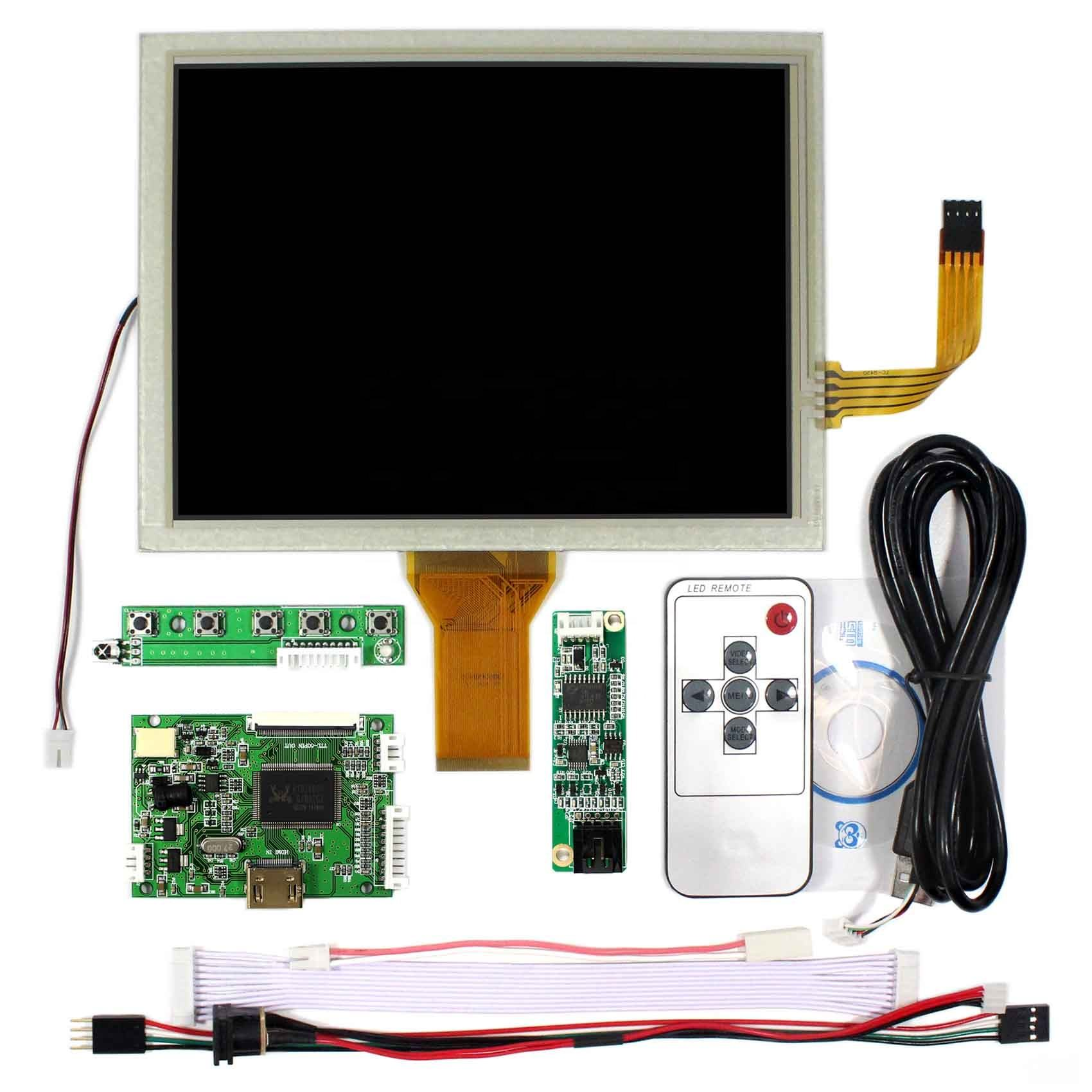HDMI LCD Controller Board VSTY50V2 with Remote 8 Inch lcd with touch panel