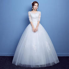 Wedding Dress One Shoulder Large Size Bride Married Thin Shoulders Long Sleeves Dress