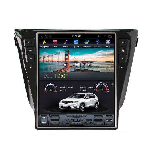 vertical 12.1 Inch touch screen car dvd for Nissan Qashqai/Xtrail 2014-2016 with radio Sat Navi GPS navigation