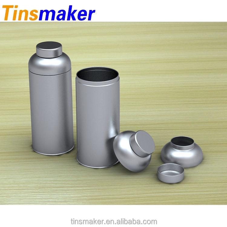 Diseño personalizado impreso retro ronda latas de té japonés con logotipo de la empresa