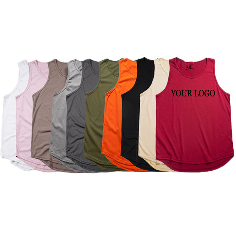 High quality fashion fitness mens tank tops custom blank cotton stringer tank top for men