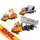 1/64 Engineering Construction Truck Pull Back Die Cast Alloy Car Model Dump Truck Excavator Concrete Mixer Toddler Boy Toys